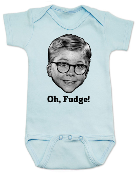 A Christmas Story Baby Bodysuit, Oh Fudge, Ralphie, Soap Poisoning, Red Rider BB Gun, funny Christmas movie onsie, funny christmas baby clothes