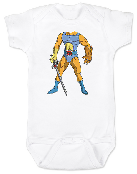 ThunderCats Baby Bodysuit, Lion-O baby Bodysuit, Lil Bodies baby onsie, Legendary Sword of Omens, Sight beyond sight, Thunder Cats Cartoon, classic cartoon baby gift