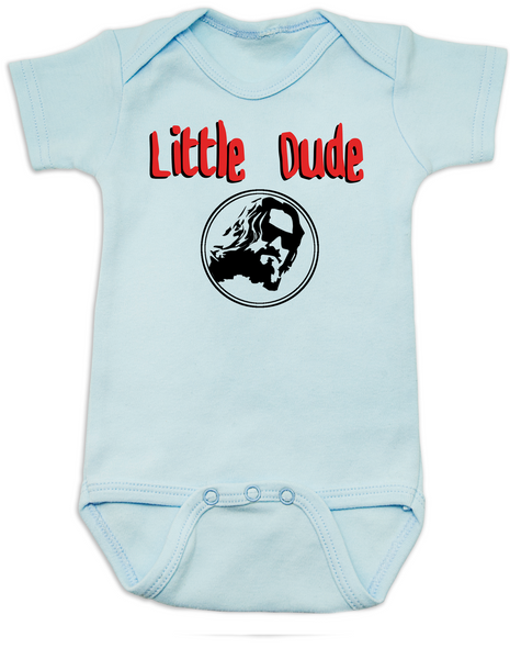 Little Dude Baby Bodysuit, Big Lebowski Baby Onsie, Fuck it dude, let's go bowling, The Big Lebowski, The Dude, Blue