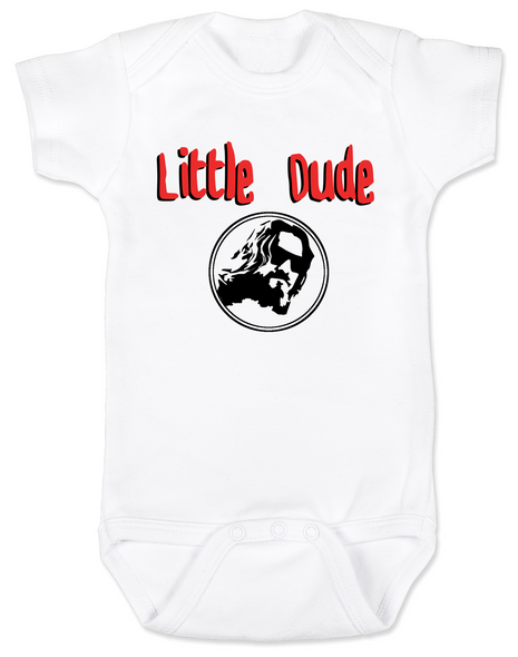 Little Dude Baby Bodysuit, Big Lebowski Baby Onsie, Fuck it dude, let's go bowling, The Big Lebowski, The Dude