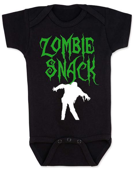 Zombie Snack Bodysuit, Zombie Baby, Halloween Baby Bodysuit, Funny Halloween, black