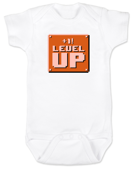 1-UP Baby Bodysuit, Personalized Birthday Bodysuit, Personalized Geeky baby, Personalized Gamer Baby, Gamer Baby Birthday, Geeky Gamer Bodysuit, Video Game baby Bodysuit, 80's Baby Bodysuit