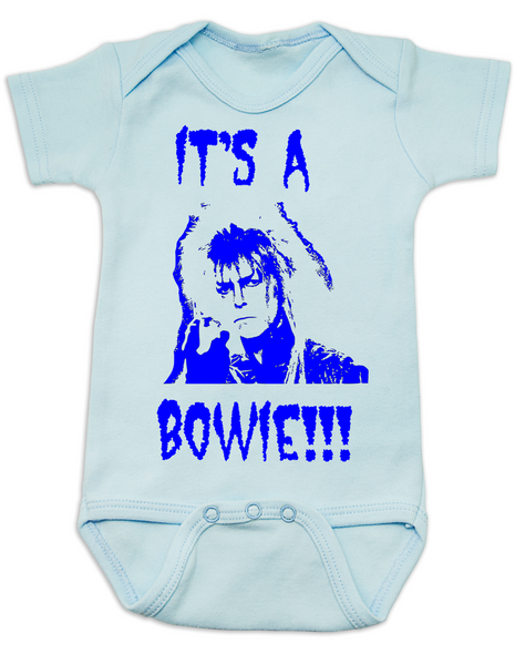 It's a Bowie, david bowie baby Bodysuit, gender reveal Bodysuit, it's a boy onsie, funny new baby boy gift, rock and roll baby bodysuit