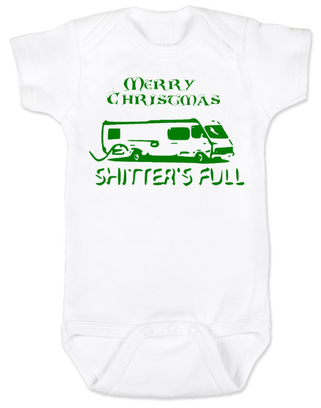 Shitter's full baby Bodysuit, Christmas Vacation movie baby clothes, funny christmas Bodysuit, funny christmas baby clothes, funny holiday baby Bodysuit
