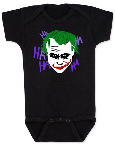 The Joker baby Bodysuit, Joker Halloween baby onsie, black
