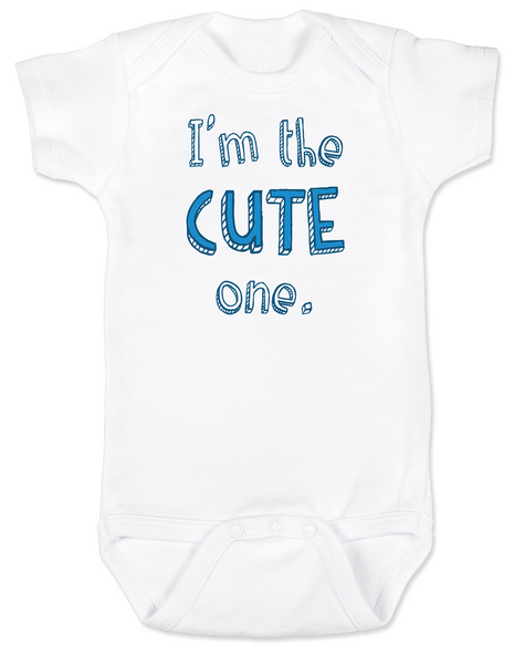 Funny Twin Baby Bodysuit Set, Funny Baby Shower gift for twins, Twin Baby Bodysuits, Cute One baby onsie, matching twin set