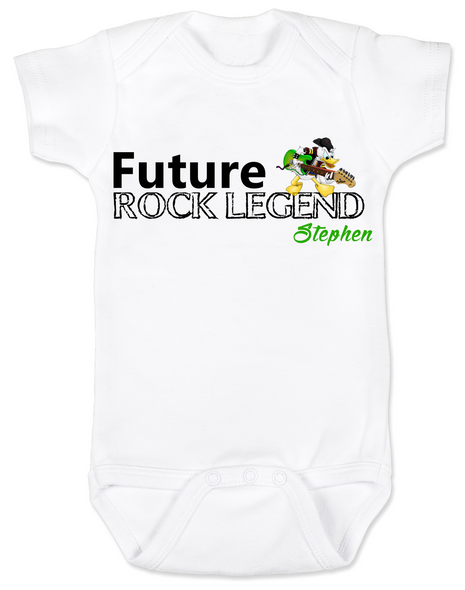 Future Rock Legend Personalized Baby Bodysuit, Rock N Roll baby Onsie, Rock and Roll, Musician parents, guitar player, Rock music, Rocker baby, Band Bodysuit, custom name