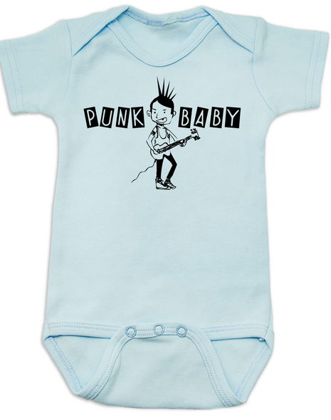 Punk Baby Bodysuit, Punk Rock baby, Badass kid, Rock N Roll infant, Cool baby boy, Rocker baby girl, Gothic baby, blue