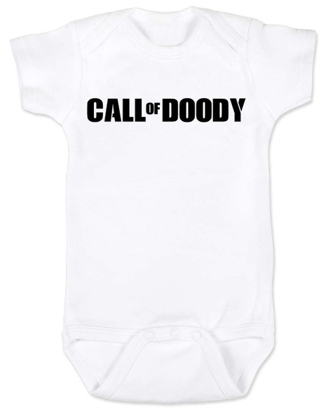 Call of Doody baby Bodysuit, Call of Duty baby onsie, gamer parents, video game Bodysuit, gaming infant bodysuit, white