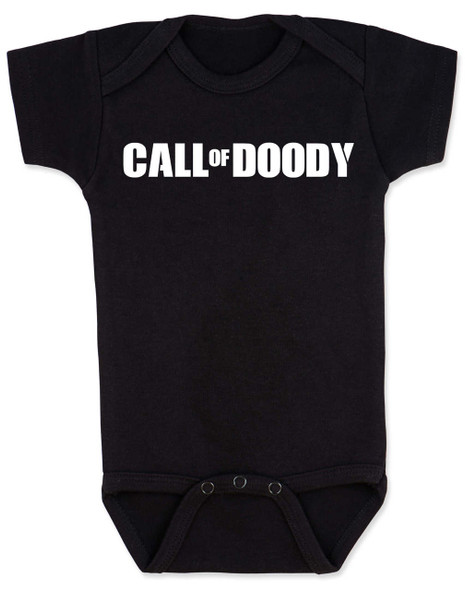 Call of Doody baby Bodysuit, Call of Duty baby onsie, gamer parents, video game Bodysuit, gaming infant bodysuit, black