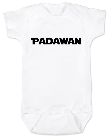Star Wars padawan baby Bodysuit, jedi baby bodysuit, the force is strong with this one, Young Jedi, nerdy infant onsie