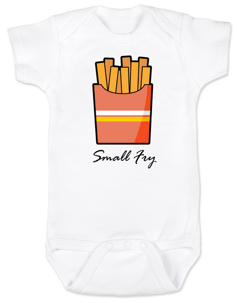 Small Fry baby Bodysuit, funny fast food onsie