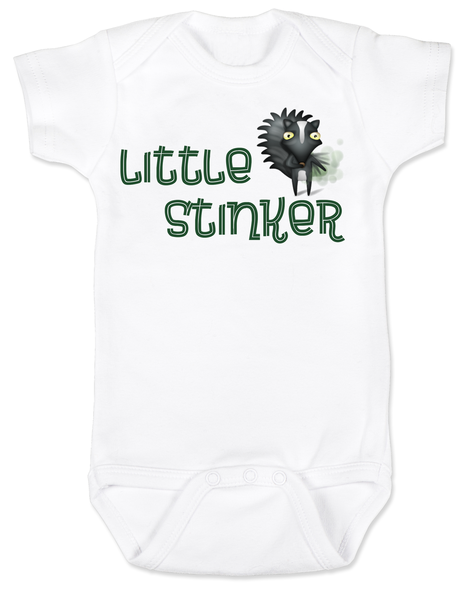 Little Stinker Baby Bodysuit, Stinky baby onsie, skunk