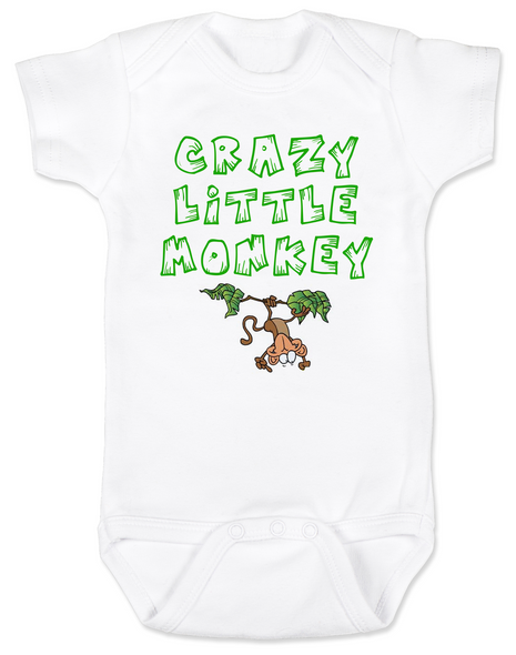 Crazy Little Monkey Baby Bodysuit, Silly monkey