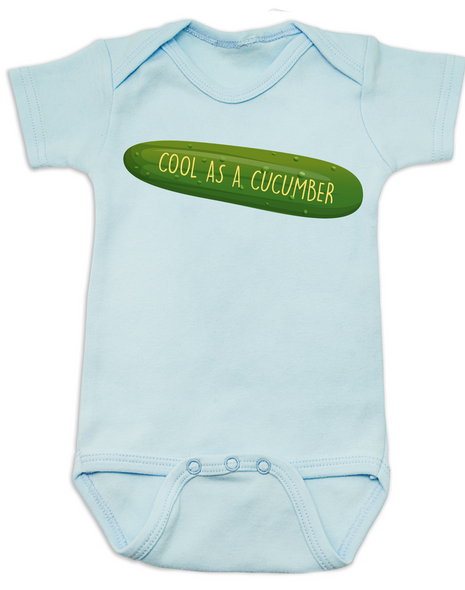 Cool as a Cucumber Baby Bodysuit, blue