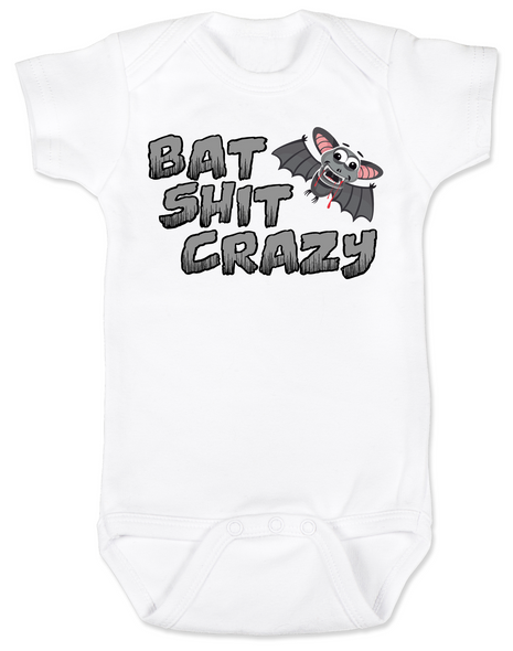 Bat Shit Crazy Baby Bodysuit, Wild Child