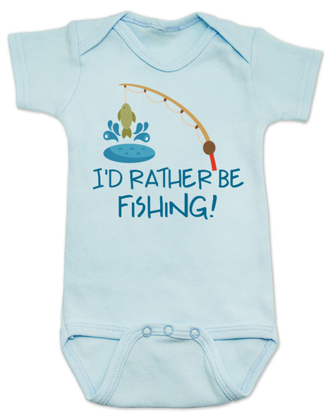 I'd Rather Be Fishing Baby Bodysuit, Daddys Fishing Buddy, future fisherman, baby fishing onsie, nature baby, mommys fishing buddy, gone fishin, outdoor adventure baby gift, fishing baby shower gift, parents who love to fish, fishing with dad, here fishy fishy, blue