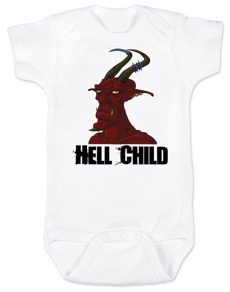Hell Child Baby Bodysuit, Wild Child, crazy baby, Little Rebel, demon spawn, devil baby
