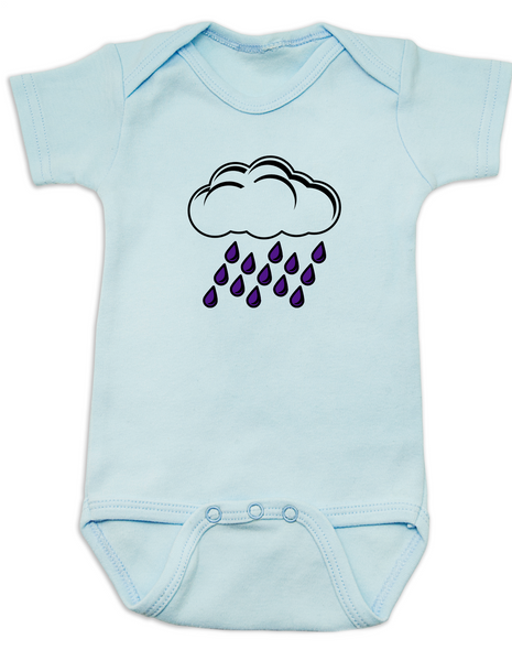 Purple rain baby Bodysuit blue