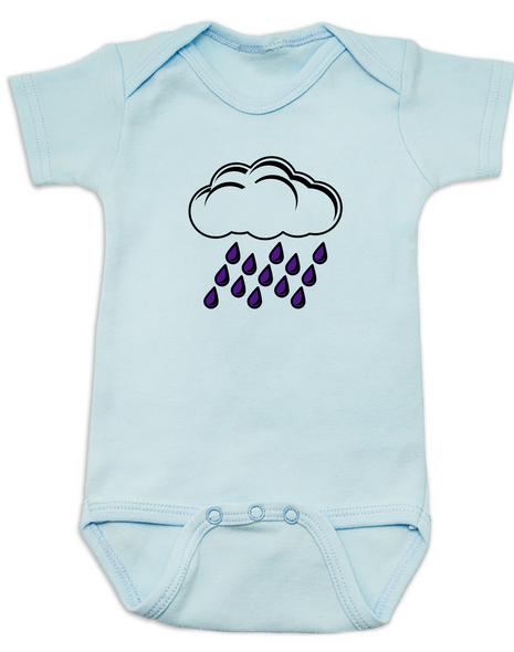 Purple rain baby Bodysuit blue