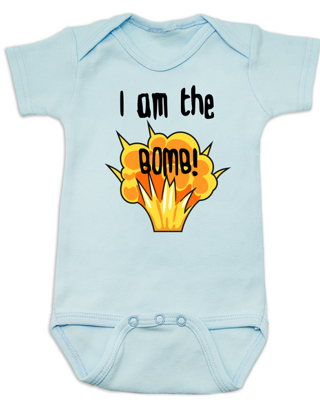 I am the bomb baby Bodysuit, I'm the bomb baby onsie, Bomb ass baby, blue