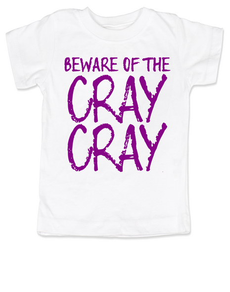 Beware of the Cray Cray Toddler Shirt, Cray Cray toddler shirt, Crazy toddler t-shirt, Infant fashion tee, baby fashion t-shirt, funny crazy kid shirt, pink on white