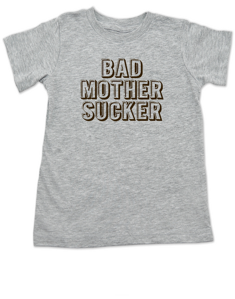 Bad Mother Sucker toddler shirt, Pulp Fiction, Bad Mother Fucker Wallet, Samuel Jackson movie, Funny breastfeeding toddler t-shirt, grey