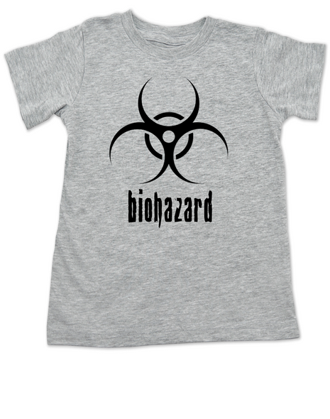 Biohazard toddler shirt, harzardous materials in the diaper, funny stinky diaper toddler t-shirt, Hazmat kid tee, toxic kid poop, bio-hazard, grey