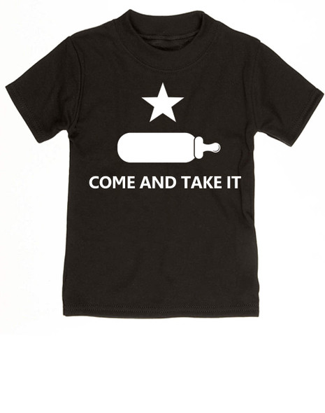Come and take it toddler shirt, kid Texas Proud, Southern State Pride toddler shirt, Funny Texas toddler t-shirt, redneck kid, born in the south, gun rights, second amendment, Texas revolution, battle of Gonzales, right to bear arms toddler shirt, black