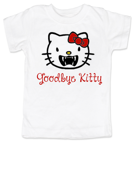 Goodbye Kitty toddler shirt, Hello Kitty Vampire toddler t-shirt, Goodbye Kitty kid tee, Cute Halloween toddler shirt