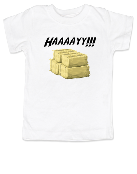 Haaaay! toddler shirt, Hey Y'all, what does a gay cow say, farm humor, haaay y'all