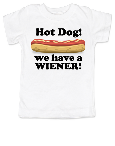 Hot Dog toddler shirt, we have a wiener, punniest kid award, funny hot dog toddler t-shirt