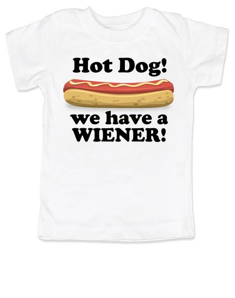 Hot Dog toddler shirt, we have a wiener, punniest kid award, funny hot dog toddler t-shirt