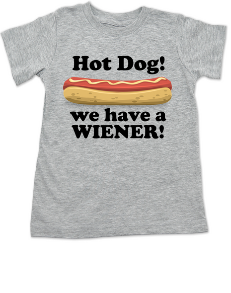 Hot Dog toddler shirt, we have a wiener, punniest kid award, funny hot dog toddler t-shirt, grey