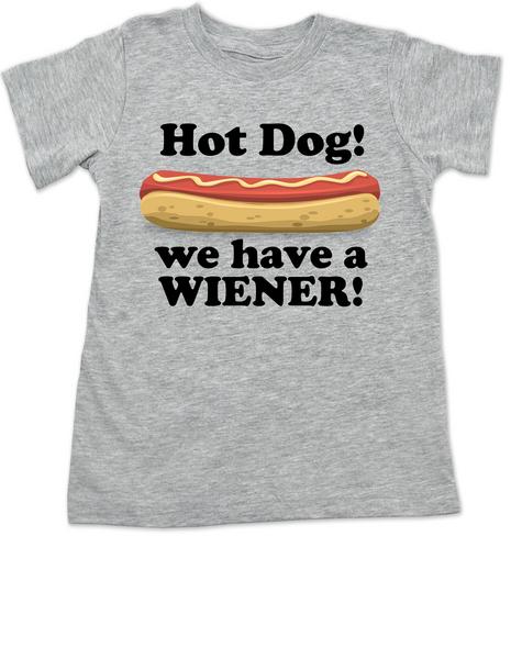 Hot Dog toddler shirt, we have a wiener, punniest kid award, funny hot dog toddler t-shirt, grey