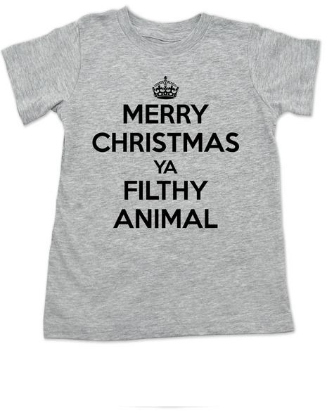 Merry Christmas Ya Filthy Animal, Keep Calm Christmas toddler shirt, Home Alone, Keep Calm Filthy Animal toddler t-shirt, funny christmas kid tee