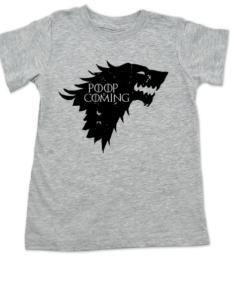 Poop is Coming toddler shirt, potty training is a game of thrones, house Stark toddler shirt, funny toilet training, poop is coming, little lannister, Game of Thrones toddler t-shirt, Poop Is Coming GoT, grey