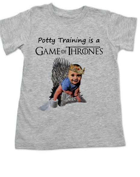 game of thrones toddler shirt, potty training is a game of thrones, funny toilet training, poop is coming, little lannister, game of thrones toddler shirt, funny GoT shirt for kids, grey
