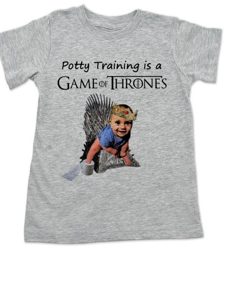 game of thrones toddler shirt, potty training is a game of thrones, funny toilet training, poop is coming, little lannister, game of thrones toddler shirt, funny GoT shirt for kids, grey
