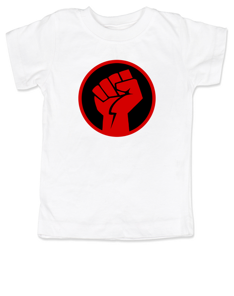 power fist toddler shirt, power to the little people, protest toddler shirt, toddler anarchy, Power fist kid shirt