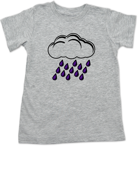 prince toddler shirt, purple rain toddler shirt, Rain cloud with purple rain shirt, Cute Prince kid shirt, Cute purple rain kid t-shirt, grey