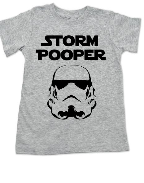 Star Wars toddler shirt, funny star wars for kids, Storm Pooper toddler shirt, funny storm trooper shirt, grey