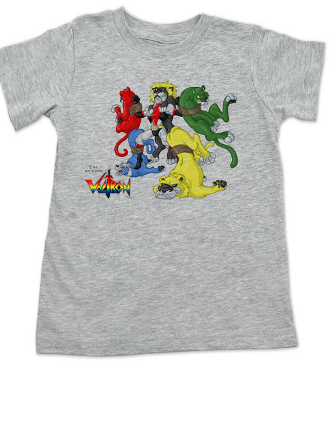 The Original Voltron toddler shirt, classic cartoon kid shirt, defender of the universe toddler shirt, grey