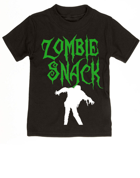 Zombie Snack toddler shirt, Zombie kid, Halloween toddler shirt, Funny Halloween kid shirt, black