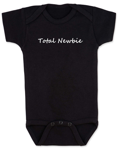 Total Newbie Baby Bodysuit, Noob, Newb, Geek Speak baby Bodysuit, black