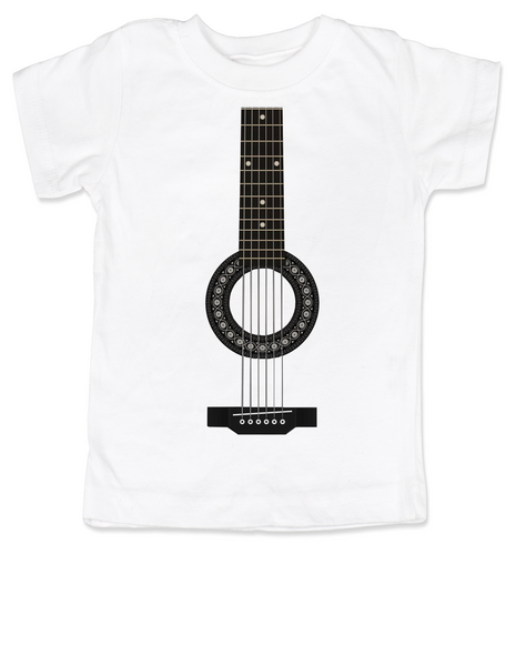 guitar toddler shirt, acoustic guitar toddler t-shirt, kid rockstar, kid guitar costume, signed guitar, rock and roll kid, kid or toddler gift for musician parents, classic rock kid clothes, personalized acoustic guitar toddler shirt, white