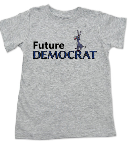 Future Democrat toddler shirt, Little Democrat, Left Wing kid t shirt, Democratic Party toddler shirt, Liberal, Donkey, Political toddler t-shirt, kid politics, Election Year kid, 2016 Election, Hillary Clinton toddler shirt, grey
