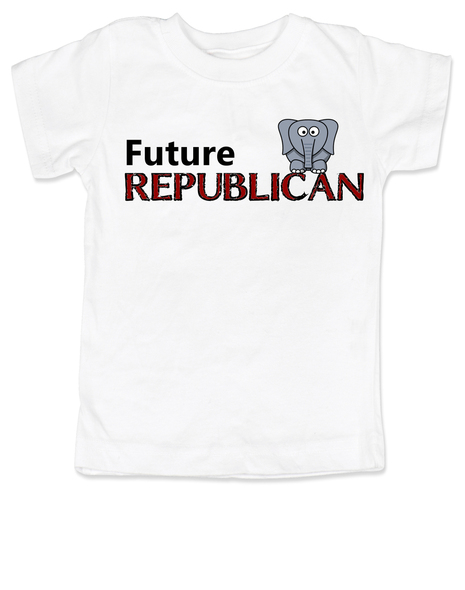 Future Republican toddler shirt, Little Republican, Right Wing kid t shirt, Republican Party toddler shirt, Conservative, Elephant, Political toddler t-shirt, kid politics, Election Year kid, 2016 Election, white