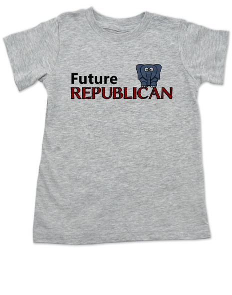Future Republican toddler shirt, Little Republican, Right Wing kid t shirt, Republican Party toddler shirt, Conservative, Elephant, Political toddler t-shirt, kid politics, Election Year kid, 2016 Election, grey