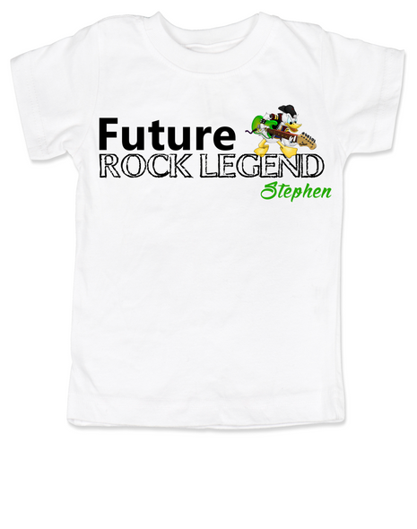 Future Rock Legend Personalized toddler shirt, Rock N Roll toddler t-shirt, Rock and Roll, Musician parents, guitar player, Rock music, Rocker kid, Band toddler shirt, with custom name